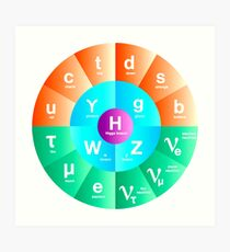 The Standard Model of Particle Physics Art Print