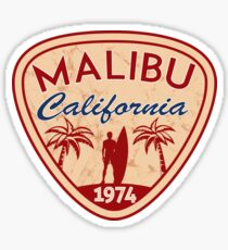 Surfing Malibu Beach California Surfer Surf Ocean CAMPER LAPTOP Sticker