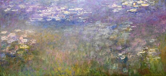 Water Lilies by Claude Monet, circa 1915-1926 by fineearth