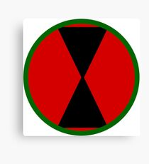 Logo of the 7th Infantry Division, U.S. Army Canvas Print