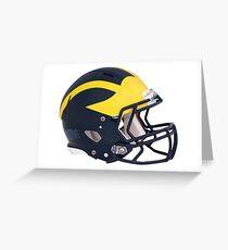 Wolverines Winged Football Helmet Greeting Card