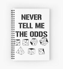 Cuaderno de espiral Nunca me digas las probabilidades D20 Juegos de rol Dados Meme