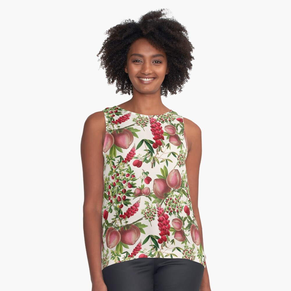 Heritage Fruit and Flowers Contrast Tank Front
