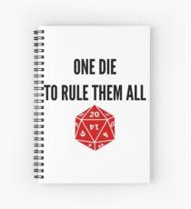 Cuaderno de espiral One Die para gobernarlos a todos D20 RPG Meme Games Dice