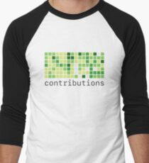 Github Contributions Men's Baseball ¾ T-Shirt