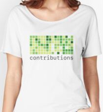 Github Contributions Women's Relaxed Fit T-Shirt