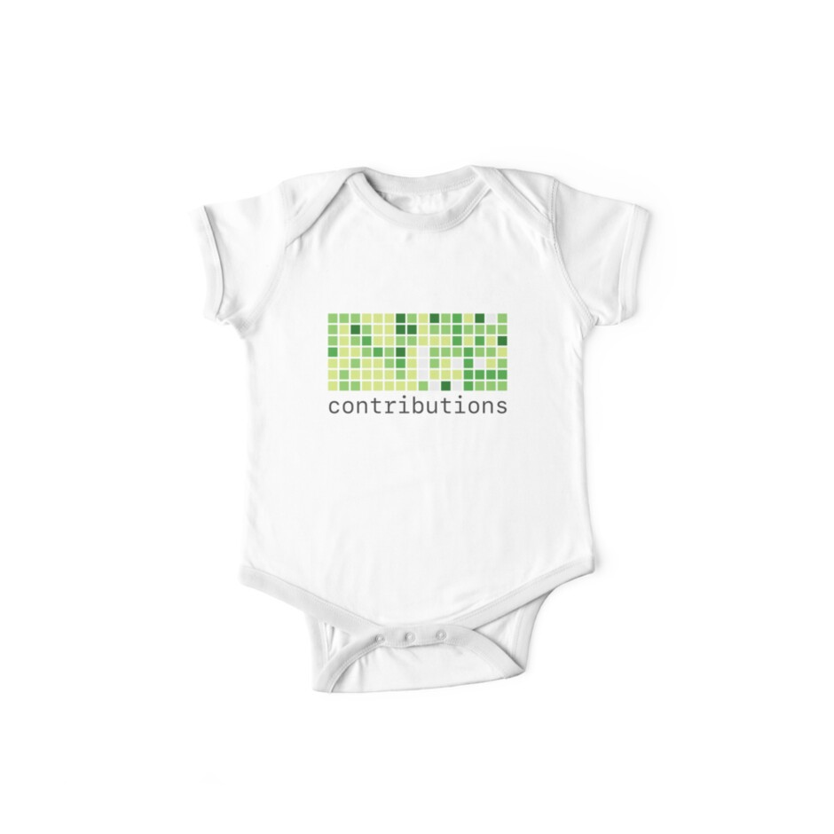 'Github Contributions' Kids Clothes by Kent Liau