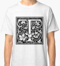 Medieval Letter T William Morris Letter Font Classic T-Shirt