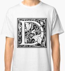 Medieval Letter D William Morris Letter Font Classic T-Shirt