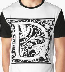 Medieval Letter D William Morris Letter Font Graphic T-Shirt