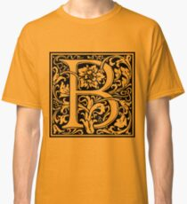 Medieval Letter B William Morris Letter Font Classic T-Shirt