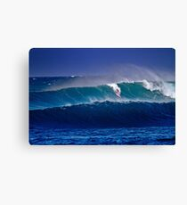 Surfer at Sunset Beach Canvas Print