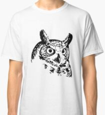 Great Owl Vintage Drawing Classic T-Shirt