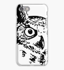 Great Owl Vintage Drawing iPhone Case/Skin