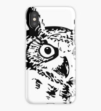 Great Owl Vintage Drawing iPhone Case