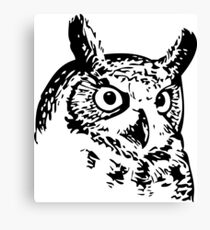 Great Owl Vintage Drawing Canvas Print