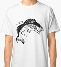 Bass Fishing Vintage Drawing Classic T-Shirt