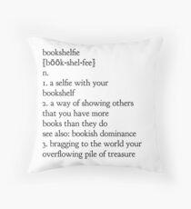 book shelfie Throw Pillow