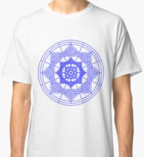 Blue Geometrical Pattern Classic T-Shirt