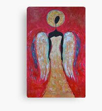 Angel of Love Painting Guardian Angel Painting for Wall Christmas Angel Canvas Print