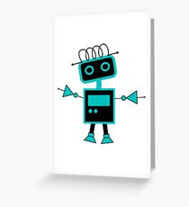 Geeky Robot Greeting Card