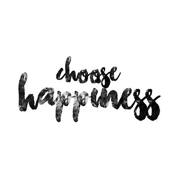 CHOOSE HAPPINESS merch sticker by youtubemugs