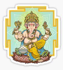 Lord Ganesha on throne Sticker
