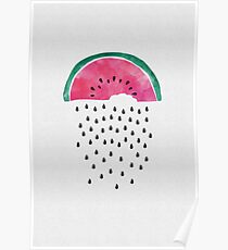 Watermelon Rain Poster