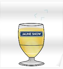Yellow Snow - Jon Snow - Ricard Poster