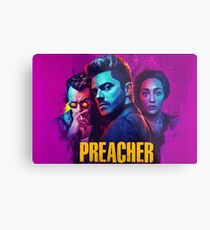 Preacher Purple Metal Print
