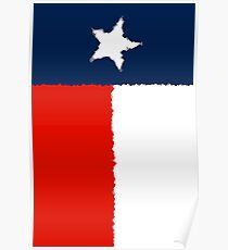 Fancy Flag Texas Poster