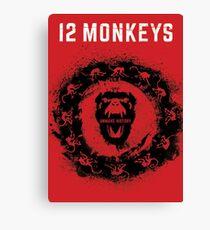 12 Monkeys Red Canvas Print