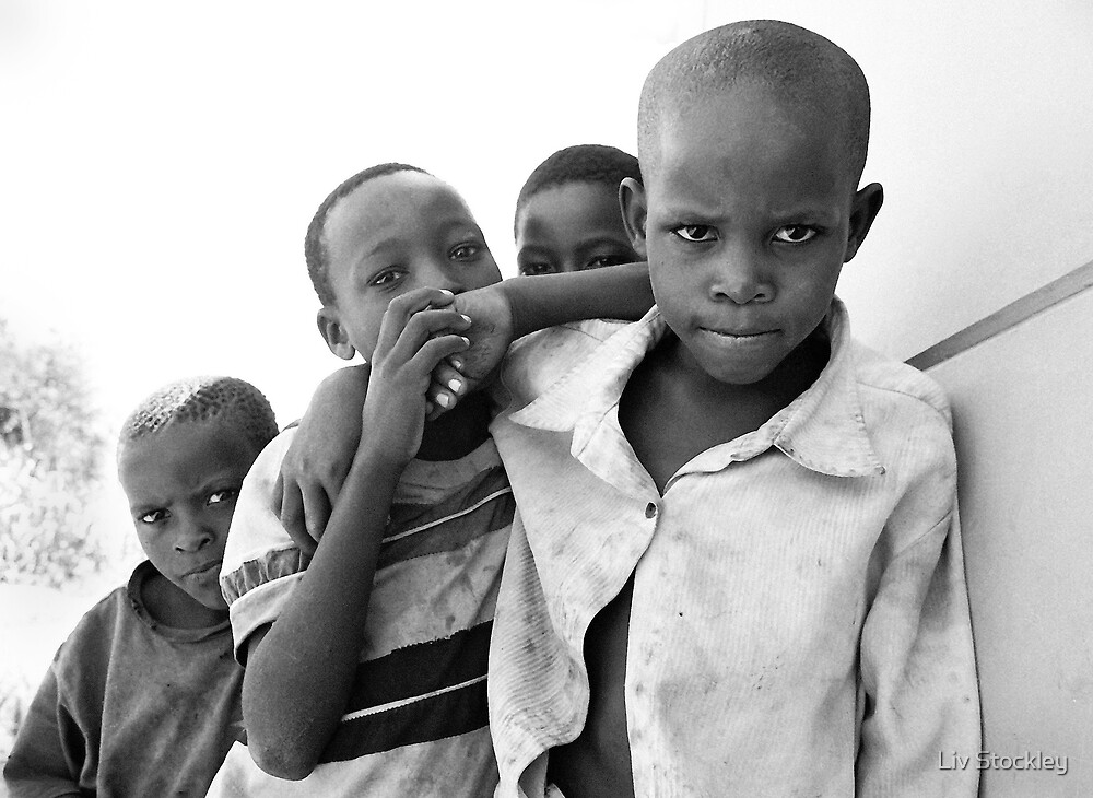 African boys by Liv Stockley