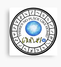 Stargate: Wormhole Dialing Ring Canvas Print