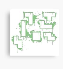 splatter tertis dmg Canvas Print