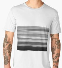 Coastal abstract wavy clouds over horizon Men's Premium T-Shirt