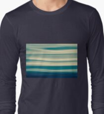 Blue tones on coastal abstract wavy clouds over horizon T-Shirt
