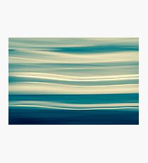 Blue tones on coastal abstract wavy clouds over horizon Photographic Print