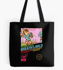 Zelda: Breath of the Wild — 80s Style NES Black Box Tote Bag