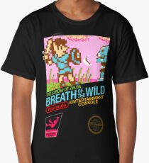 Zelda: Breath of the Wild — 80s Style NES Black Box Long T-Shirt