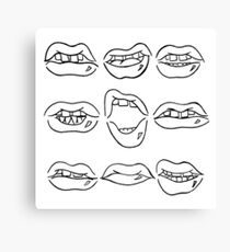 Kiss This Canvas Print