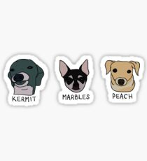 Jenna's Dogs + Names (Sticker Pack) Sticker