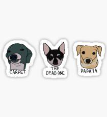 Teppich, Papaya und der Tote (Sticker Pack) Sticker