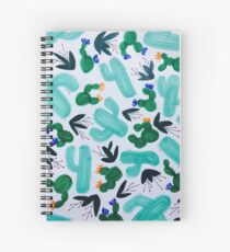 Cactus Pattern Spiral Notebook