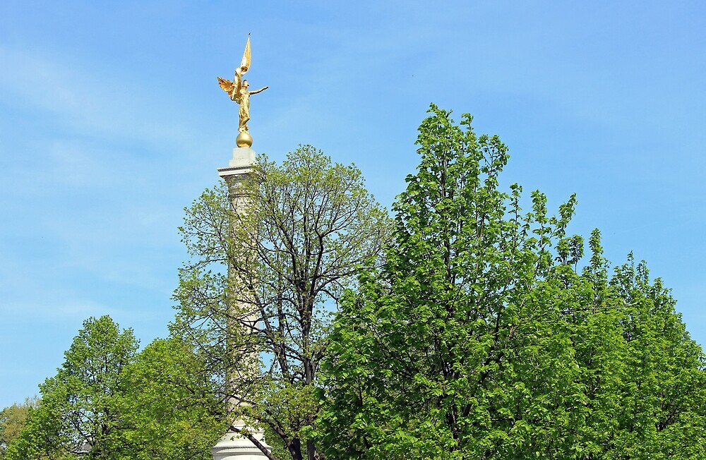 The First Division Monument In Green by Cora Wandel