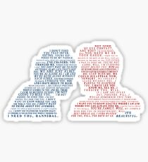 Hannigram Quotes Sticker