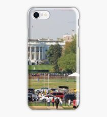 The White House With People Cranes Cars Etc. iPhone Case/Skin