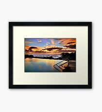 Sunrise Pool Framed Print