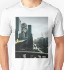 King Kong searching Banana in Town  T-Shirt
