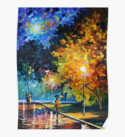 BLUE MOON limited edition giclee of L.AFREMOV painting Poster